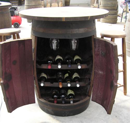 Botelleros de barricas barriles o toneles botellero de barrica con puertas balda y copero - Botelleros de madera para vino ...