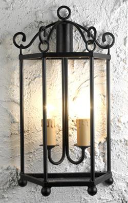 Apliques lamparas y faroles rustcos para decoracion de hosteleria bodegas casa rurales - Lamparas para bodegas ...