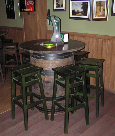 Barricas autopull y columnas de cerveza toneles barriles barricas mesas taburetes para - Muebles montilla malaga ...
